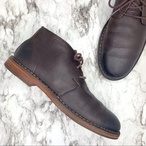 Cole Haan chukka brown leather lace up boots 9.5